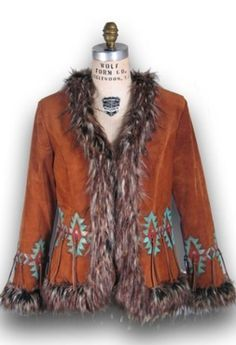 patricia wolf paint suede clothing jacket - Google Search