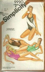Simplicity 9920 1980s Misses Easy One Piece Swimsuit Pattern Womens Vintage Sewing Patternby patterngate.com