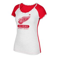 b346b2890d177a Women s adidas Detroit Red Wings Constructed Raglan Tee