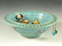 What a wonderful Idea!  Earring Bracelet holder  wheel thrown stoneware by Hodakapottery