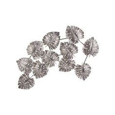 Lazy Susan Metal Leaf Wall Decor ($118) ❤ liked on Polyvore featuring home, home decor, leaf home decor, metal home decor and inspirational home decor