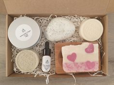 ZERO WASTE New Beginning Spa Gift Box Vegan Gift for Hair Face and Body Solid Shampoo Body Butter Vegan Soaps Face Serum Lip Balm Solid Shampoo, Shampoo Bar, Lip Balm Price, Anniversary Favors, Vegan Gifts, Vegan Soap, Organic Soap, Spa Gifts, New Home Gifts