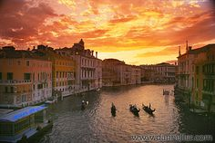 Sunset on the Grand Canal, Venice, Italy. Photo by Dan Heller.