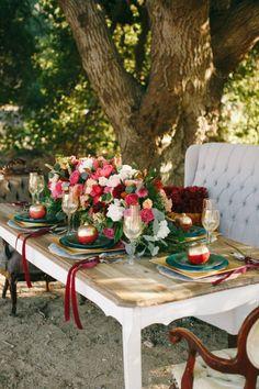 saturated hues, beautiful table