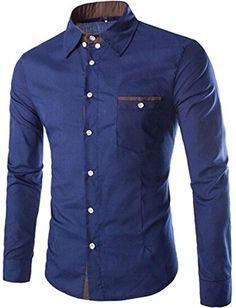 #jeansian #Herren Freizeit Hemden #Shirt Tops Mode Langarmshirts Slim Fit 8749 Navy L [Apparel] Jeansian http://www.amazon.de/dp/B0150XXX14/ref=cm_sw_r_pi_dp_B99xwb0YBXW2N