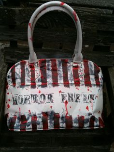 Horror Freak Handbag Purse. Created by MissFiendishApparel @ etsy.com