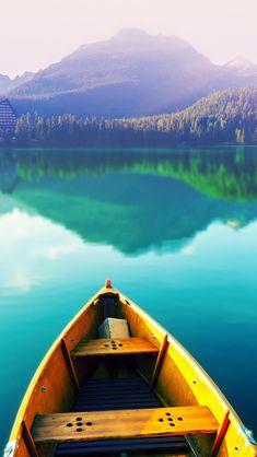 Boat On Still Lake  #iPhone #5s #Wallpaper