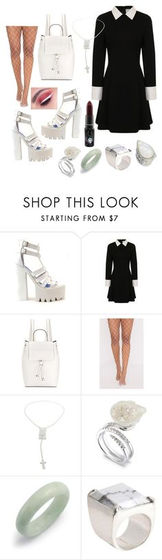 """""""School Uniform"""" by loveisablindwar on Polyvore featuring Jeffrey Campbell, M.A.C, French Connection, Jean-Paul Gaultier, Bling Jewelry, Maison Margiela and Konstantino"""
