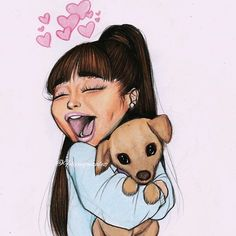 "9,508 Likes, 394 Comments - Felipe Gonzalez (@felipeegonzalez) on Instagram: ""Cute cartoon of @arianagrande and toulouse bc valentines day is not only for lovers! // Pls tag…"""