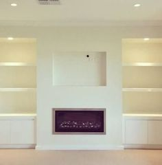 Best Free Contemporary Fireplace surround Ideas Modern fireplace designs can cover a broader category compared for their contemporary counterparts. Wall Units With Fireplace, Tv Above Fireplace, Fireplace Built Ins, Home Fireplace, Modern Fireplace, Living Room With Fireplace, Fireplace Surrounds, Fireplace Design, Fireplace Ideas