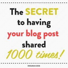 You've seen that headline before, right? Or something very similar...10 things to NEED to do to every post, The best way to get more shares... And it comes with a list of all the things you need to...