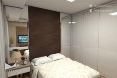 1|6 APARTAMENTO JM - Projeto de Arquitetura de Interiores para suíte em Criciúma - SC