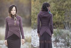 Basic Cropped Wrap  in Brown or Black  throw jacket by ElvenForest, $78.00