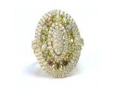1.77 ctw Diamond & 1.37 ctw Diamond 18K Yellow Gold Ring