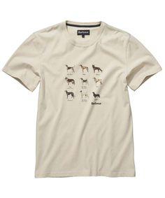 Barbour Dog Tee Shirt - Chalk