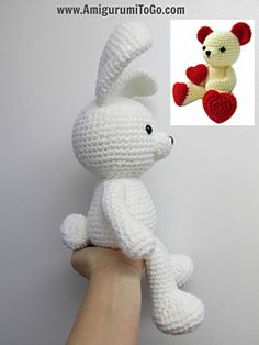 Amigurumi Valentine Teddy Bear Part Two : 1000+ images about Crochet / knit rabbit, bunny on ...
