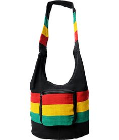 Make sure you are ready for the next festival or beach party with all your gear in one sweet and stylish place with the Baja Bags rasta purse. This woven bag comes in a Black colorway with Red, Yellow and Green stripes to keep the irie style flowing. With