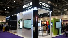 The CTOUCH stand at Bett 2015. Image take from the Our ICT technology blog.  #bett #education # ctouch