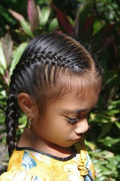 Braids & Hairstyles for Super Long Hair: Micronesian Girl~ Double 4-strand French braids