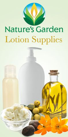 Lotion Making Supplies from Natures Garden at wholesale prices for everyone.  #lotionsupplies