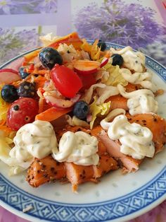 Fruit Salad, Food, Salmon, Fresh, Treats, Amazing, Food Food, Fruit Salads, Eten