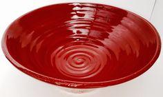 Medium sized red fruit bowl