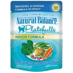 Natural Balance Indoor Platefulls Cat Pouch, Pack of 24 * You can get more details by clicking on the image.