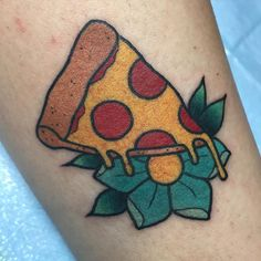 Made a couple matching mini pizza tattoos  by alexstrangler