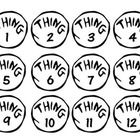 "This listing is for 3 sets of numbered tags inspired by Thing 1 and Thing 2 from Dr. Seuss's ""The Cat in the Hat."" Each set features numbered tags/..."