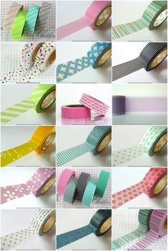 Washi Tape with resources via Kim Vallee.. YAY!