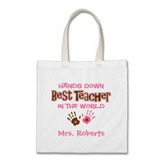 Shop Hands Down Best Teacher Tote Bag created by pinkinkart. Personalize it with photos & text or purchase as is! Teacher Tote Bags, Library Bag, Trick Or Treat Bags, Baby Diaper Bags, Halloween Trick Or Treat, Kids Bags, Cute Bags, Best Teacher, Beautiful Bags