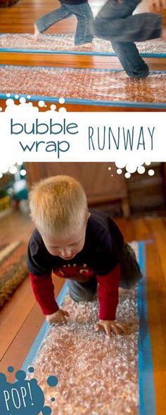 Popping bubbles - run, crawl, hop - whatever you can do to pop! via @handsonaswegrow