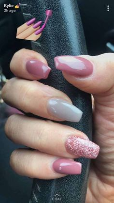 Sparkly Acrylic Nails Coffin like Nail Care On Rainbow unless Sparkly Acrylic Nail Ideas among Nail Care Guide Gorgeous Nails, Love Nails, Pink Nails, My Nails, Pink Sparkly Nails, Orange Nails, Fantastic Nails, Diy Ongles, Sparkly Acrylic Nails