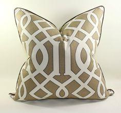 Trellis Decorative Pillow Cover, Cushion Cover, Geometric Pillow Cover