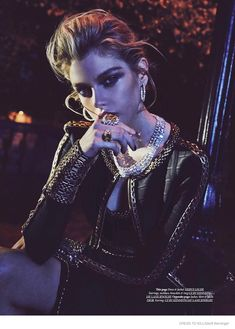 Stella Maxwell Wears Nighttime Fashions for Dress to Kill
