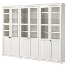 LIATORP TV storage combination, white, 130 Are you a romantic at heart? The delicate shapes and details are reminiscent of country living. Combine with other furniture in the LIATORP series for a complete, beautiful look. Bookcase With Glass Doors, Glass Cabinet Doors, Sliding Glass Door, Bookcase White, Bookcase Wall, Bookshelves Ikea, Billy Bookcases, Ikea Liatorp