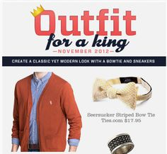Outfit for a King: November 2012