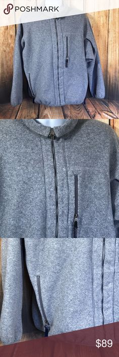 "Patagonia Full Zip Gray Fleece Jacket Patagonia Fleece Jacket  Full Zip  Side entry front pockets with zip closure  Single breast pocket with zip closure and signature pull tab  Inside mesh open stow pockets  Elastic at hem  Long Sleeve with elastic cuffs  100% Polyester  Size XL  Measures 26.5"" across bust  Measures 27.5"" long from center back  Sleeves measure 22.5"" long from shoulder seam to cuff hem  Gently worn, good condition  The perfect go to jacket! So warm and cozy! Patagonia…"