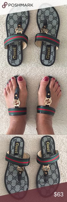 Sandals look like G ucci New new new Shoes Sandals