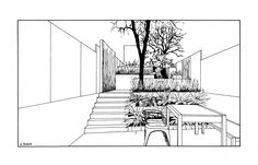 Agata Byrne, Design No5, urban residential garden in Vauxhall reflecting industrial style interior, Garden view No1