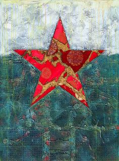 "Saatchi Online Artist: yujuan wu; Assemblage / Collage, 2010, Mixed Media """"Red Star""series—3"""