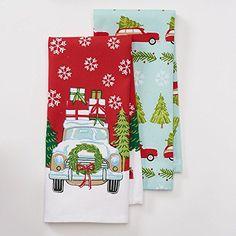 "Holiday Cheer Truck Kitchen Towel Set- 2 Piece- 16.5"" x 26"" St. Nicholas Square http://www.amazon.com/dp/B019KMC79U/ref=cm_sw_r_pi_dp_XhUdxb1PSJW6X"