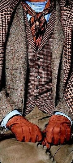 Schöner Material- und Mustermix in den angesagten Farben des Winters Nice mix of materials and patterns in the trendy colors of winter Gentleman Mode, English Gentleman, Gentleman Style, Sharp Dressed Man, Well Dressed Men, Tweed Run, Moda Formal, Look Man, Look At You