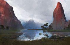 environment concept F, Mohammad Yousefi on ArtStation at https://www.artstation.com/artwork/0oQ8K