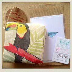 #toucan #tropical #totebag #pramax - http://pramax.bigcartel.com/ © Pramax* - 2014