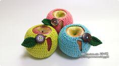 #crochet #apple #jacket #diy #handmade #코바늘 #뜨개질 #사과주머니 #만들기 #선물포장