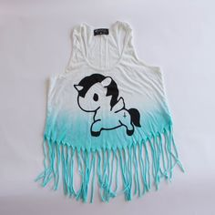 5ba5f170 Unicorn Fringe Tank Top by MYVL Fringe Tank, Summer Wear, Unicorn, Summer  Clothes