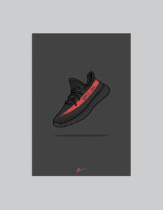 Image of ★ NEW ★ Yeezy 350 v2 Black Red