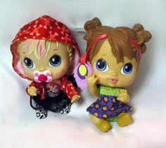 "Baby Alive  - Crib Life Dolls - Lot of 2 -  6"" Tall - Hasbro 2010"