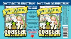 Pineapple on deck in SweetWater Goin' Coastal